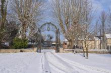Ancien séminaire - Grille en hiver