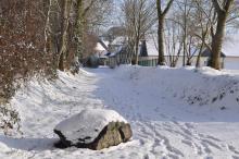 Chemin des pierres en hiver