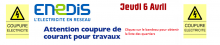 COUPURE DE COURANT JEUDI 06/04/2017