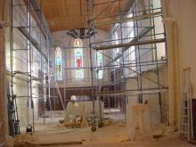 L'église en travaux