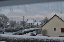Rue de Chédeville en hiver